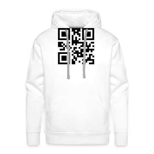 Sono Single QR Code - Felpa con cappuccio premium da uomo