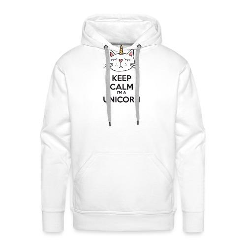 Keep calm cat licorne - Men's Premium Hoodie