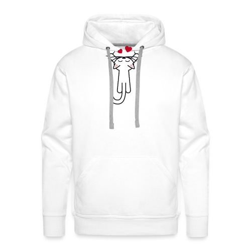Kitty hanging love - Men's Premium Hoodie