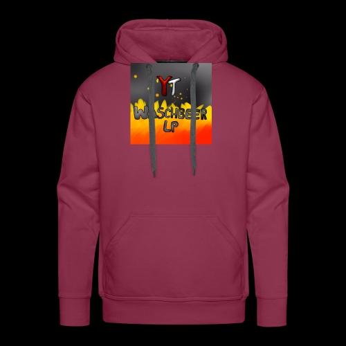 Waschbeer Design 2# Mit Flammen - Männer Premium Hoodie