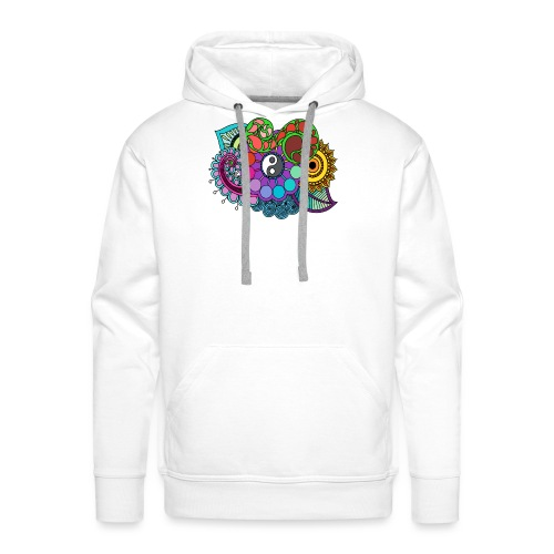 Coloured Nature Mandala - Men's Premium Hoodie