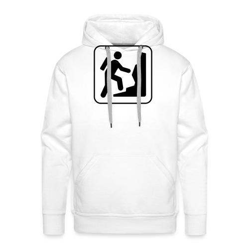 Bergwandern_logo - Männer Premium Hoodie