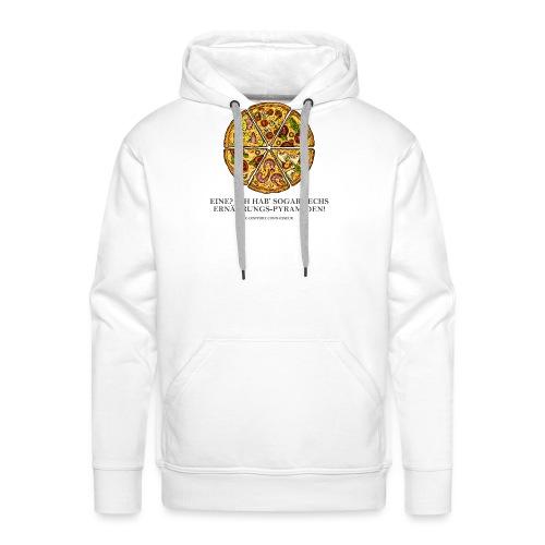 Ernährungspyramide aus Pizza - Männer Premium Hoodie