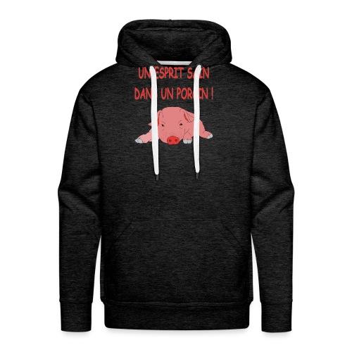 Porcitive Attitude - Sweat-shirt à capuche Premium pour hommes