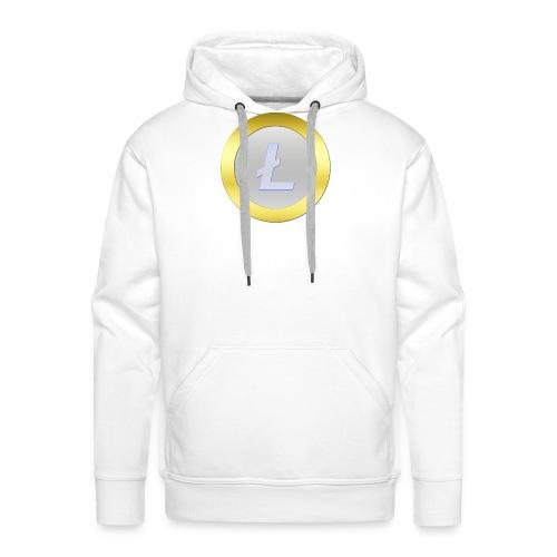 Litecoin Logo 3D Silver C - Männer Premium Hoodie