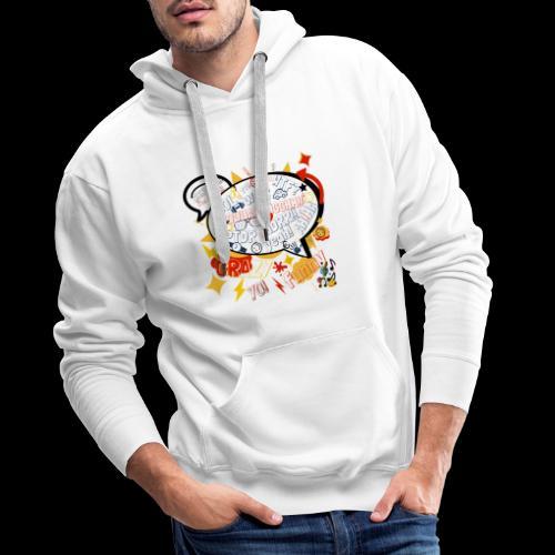 crazystreettalk - Sweat-shirt à capuche Premium pour hommes
