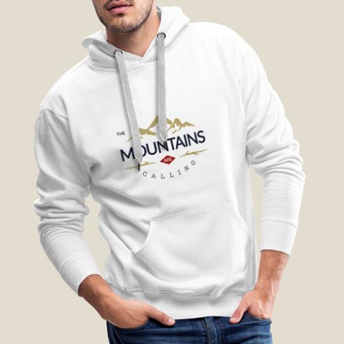 Outdoor mountain - Sweat-shirt à capuche Premium pour hommes