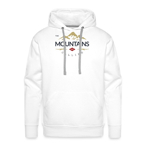 Outdoor mountain - Sweat-shirt à capuche Premium pour hommes
