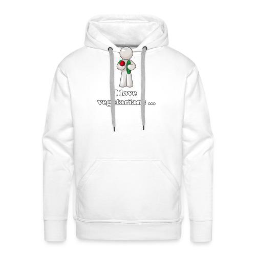 lovevegetariansfront - Mannen Premium hoodie