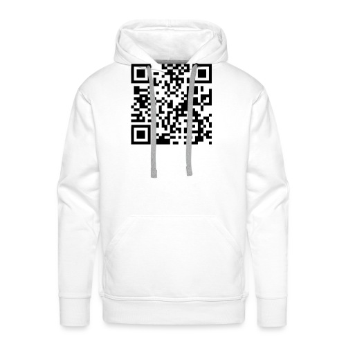 QR Code Geek - Sweat-shirt à capuche Premium pour hommes