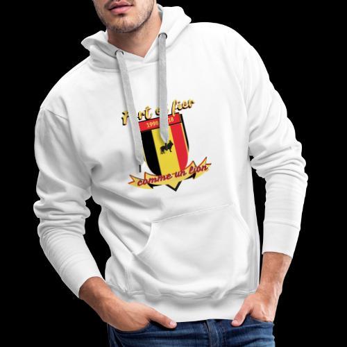 belgique foot coupe du monde - Sweat-shirt à capuche Premium pour hommes