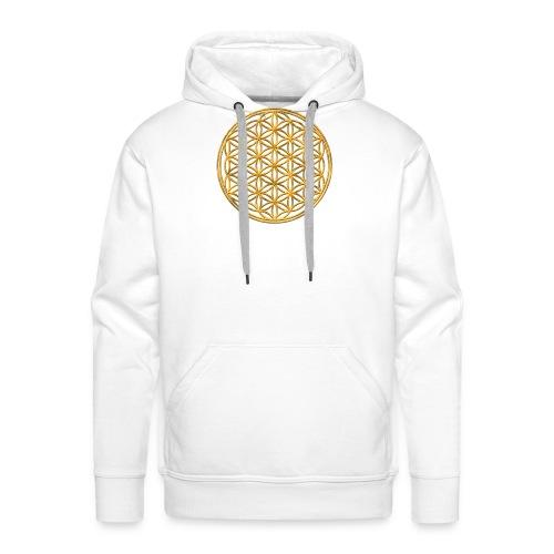 Flower of life GOLD 2 - Mannen Premium hoodie