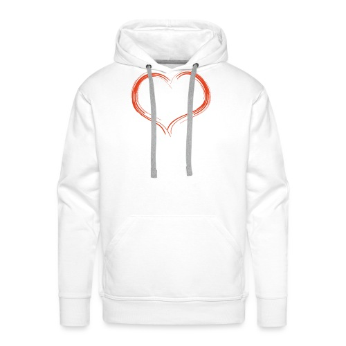 Only Heart Red - Männer Premium Hoodie
