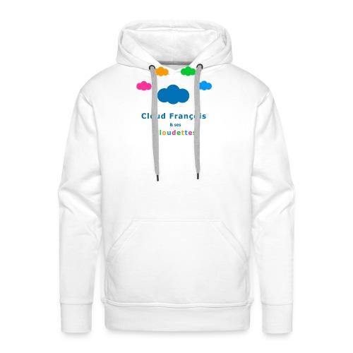 Cloud François et ses Cloudettes - Sweat-shirt à capuche Premium pour hommes