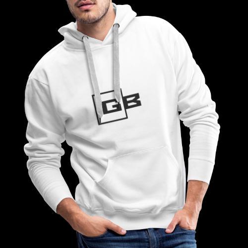 Musta Gymbox logo - Miesten premium-huppari