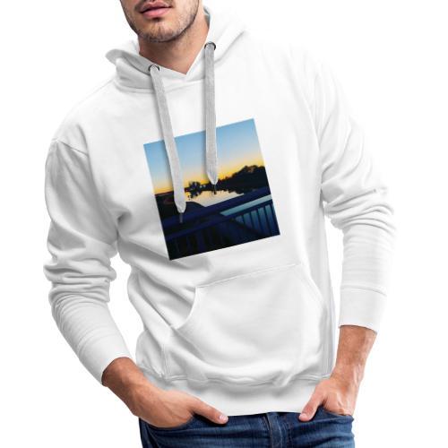 Sonnenuntergang Wasserspiegelung - Männer Premium Hoodie