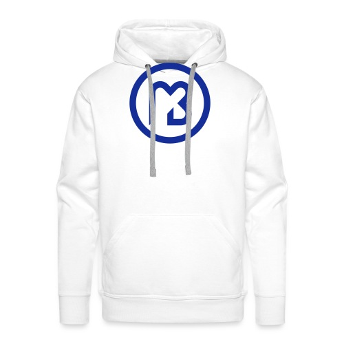 Mark Blast logo RVB macaron bleu - Sweat-shirt à capuche Premium pour hommes