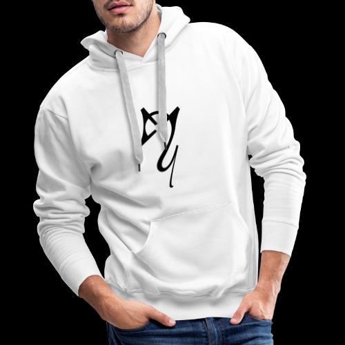 Overscoped Logo Front & Back - Men's Premium Hoodie