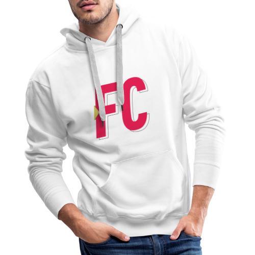 FC Logo - Herre Premium hættetrøje