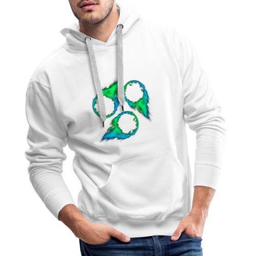 KURIALYS - Green&Blue - Sweat-shirt à capuche Premium pour hommes