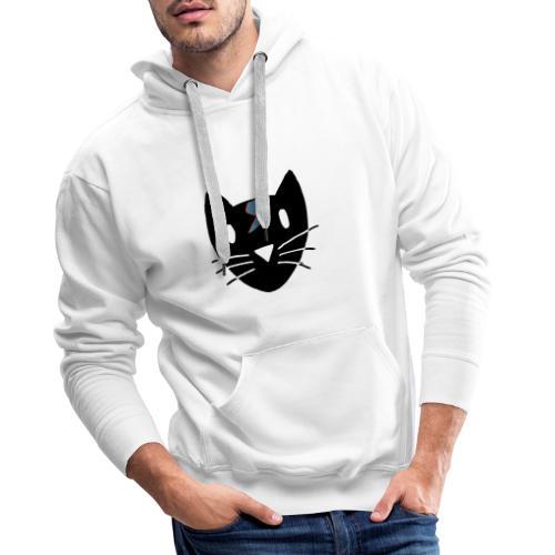 Chat Bowie - Sweat-shirt à capuche Premium pour hommes