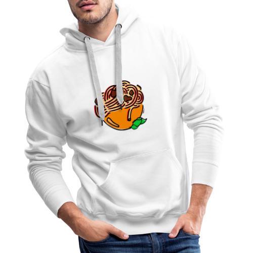 Bol de Spaghetti - Sweat-shirt à capuche Premium pour hommes