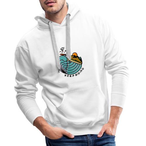 Surfeur au Couchant - Sweat-shirt à capuche Premium pour hommes