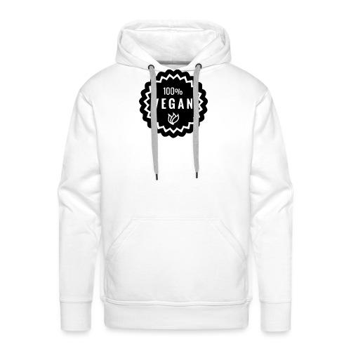 100% végan - Sweat-shirt à capuche Premium pour hommes