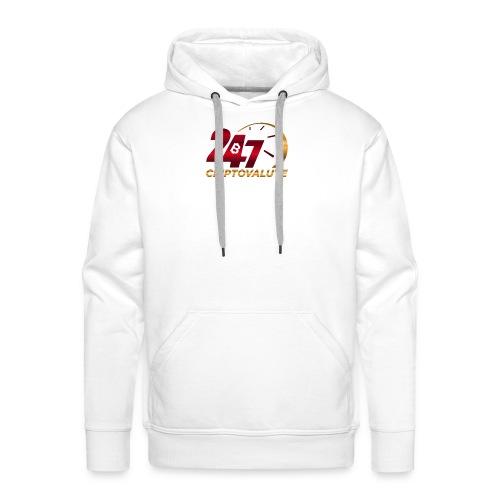 Criptovalute 247 Logo 1 - Felpa con cappuccio premium da uomo