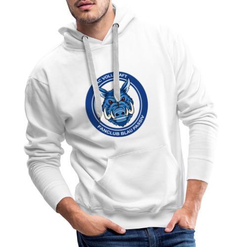 Blau Passiv Fanclub Logo - Männer Premium Hoodie