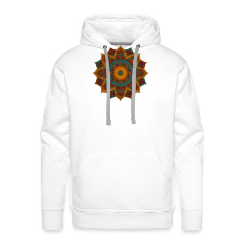 HANDPAN hang drum MANDALA teal red brown - Männer Premium Hoodie