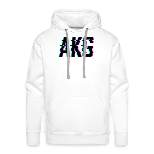 AKG Schwarz Glitched - Männer Premium Hoodie