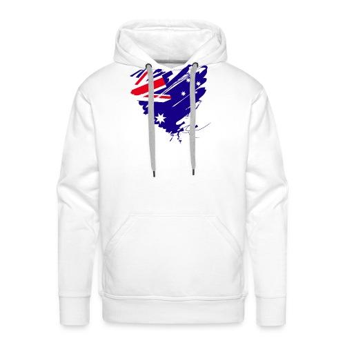 Australien Sydney Kontinent Grunge Herz Fahne - Männer Premium Hoodie