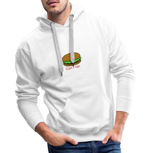 Can I haz hamburger. - Mannen Premium hoodie