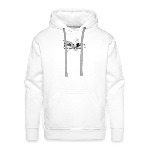 Genius and Madness White Edition - Männer Premium Hoodie