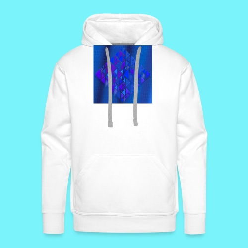Pythagorean right- and left- angle fish in blue - Men's Premium Hoodie