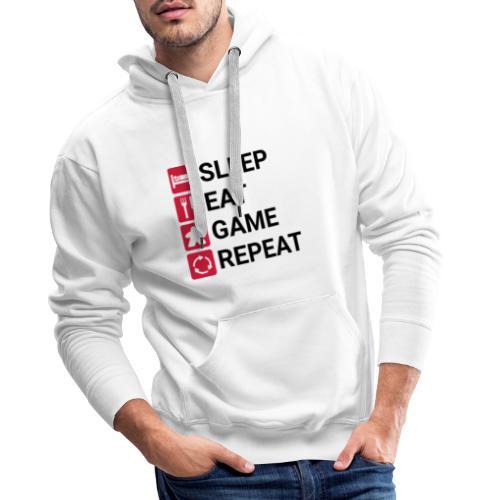 SLEEP, EAT, GAME, REPEAT - Premium hettegenser for menn