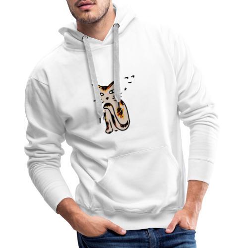 Hinterhältige Katze - Männer Premium Hoodie