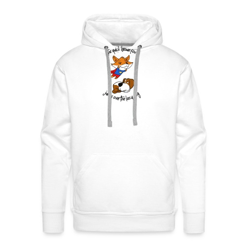 The quick red fox jumps over the lazy dog - Sweat-shirt à capuche Premium pour hommes