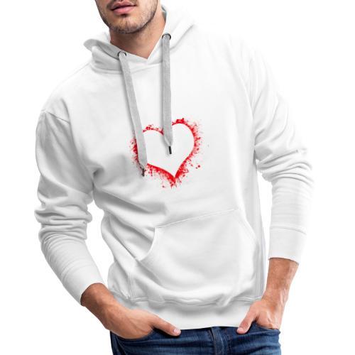 corazón pintura - Sudadera con capucha premium para hombre
