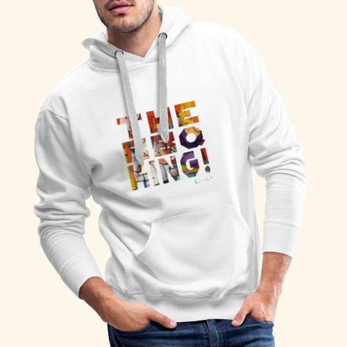 THE BBQ KING T SHIRTS TEKST - Mannen Premium hoodie