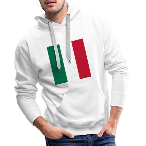 italy square flag - Men's Premium Hoodie