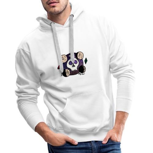 Crâne Lune des confins de l'Espace - Sweat-shirt à capuche Premium pour hommes