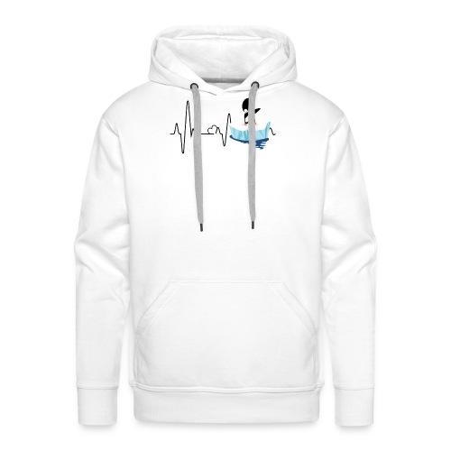 Heartbeat Pinguin 2 - Männer Premium Hoodie