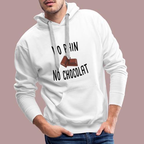 No pain no chocolat citation drôle - Sweat-shirt à capuche Premium pour hommes