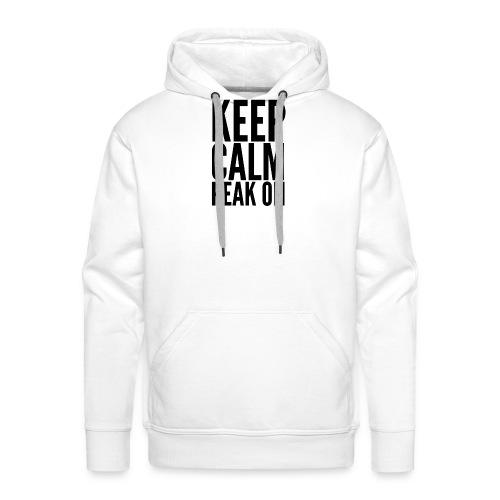 Keep Calm Peak On (Black) - Men's Premium Hoodie