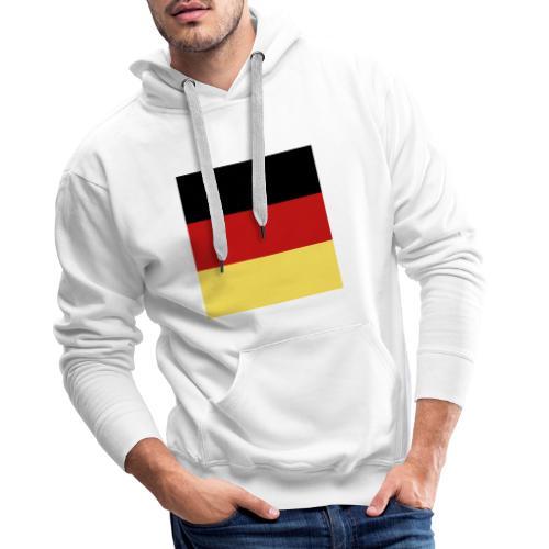 Mondkap 2 lagen, herbruikbaar, wasbaar Duitse vlag - Mannen Premium hoodie