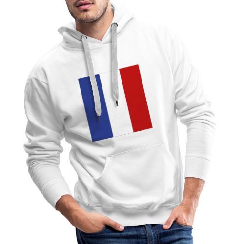 Mondkap 2 lagen, herbruikbaar, wasbaar Franse vlag - Mannen Premium hoodie