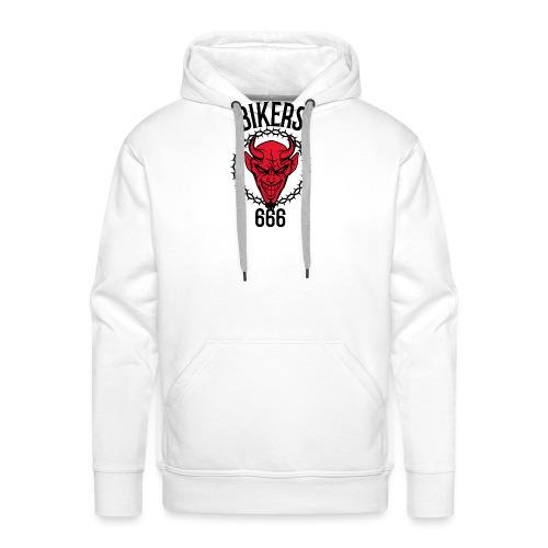 bikers red 666 - Sweat-shirt à capuche Premium pour hommes