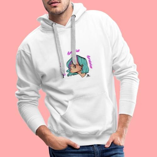 Lynioka Purple Up - Sweat-shirt à capuche Premium pour hommes